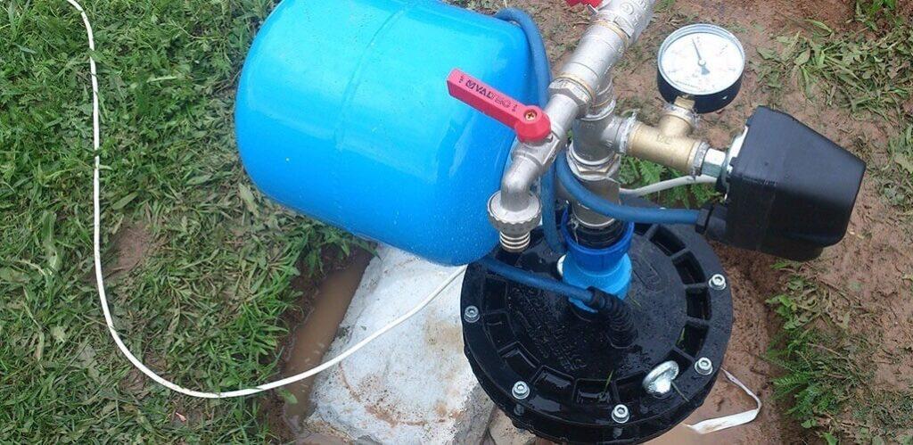 обустройтво скважины летом с гидробаком