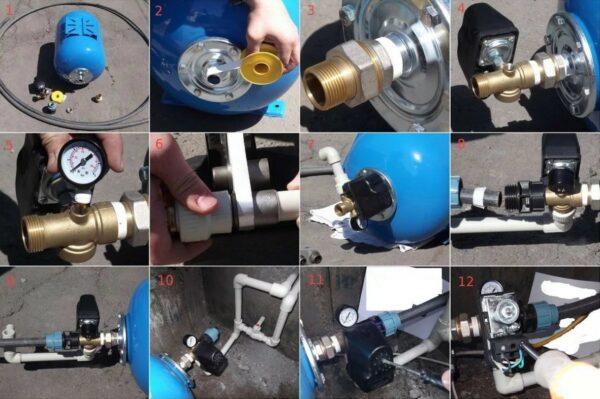 схема замены реле давления в скважине